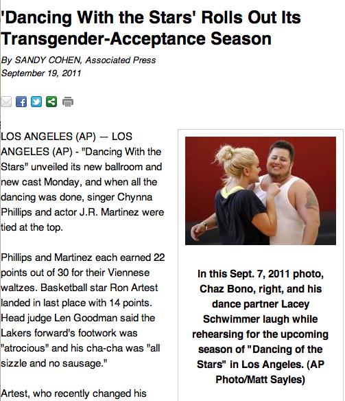 Acceptance of Transgender articles?