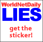 Get the WorldNetDaily Lies sticker!